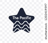 pacific ocean transparent icon. ... | Shutterstock .eps vector #1202419597