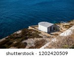Bunker at Europa Point, southern end of Gibraltar. Gibraltar is a British Overseas Territory located on the southern tip of Spain. - stock photo