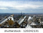 telescope viewer and city... | Shutterstock . vector #120242131