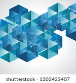 abstract geometric background... | Shutterstock .eps vector #1202423407