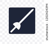 museum fencing transparent icon.... | Shutterstock .eps vector #1202424394