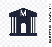 museum transparent icon. museum ... | Shutterstock .eps vector #1202424574
