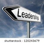 leadership road sign follow...   Shutterstock . vector #120243679