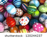 Background With Easter Eggs ...