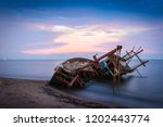 the old fishermen ruined small...   Shutterstock . vector #1202443774