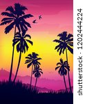Landscape With Coconut Palm...
