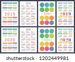 calendar 2019  2020 years.... | Shutterstock .eps vector #1202449981