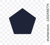 pentagon transparent icon.... | Shutterstock .eps vector #1202458774