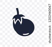 eggplant transparent icon.... | Shutterstock .eps vector #1202460067
