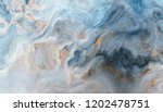Blue Marble Pattern With Grey...