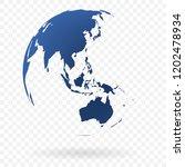 earth globe symbol | Shutterstock .eps vector #1202478934
