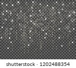 snow falling   stock vector | Shutterstock .eps vector #1202488354