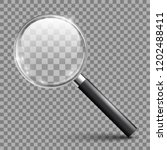 magnifying glass tool with... | Shutterstock .eps vector #1202488411