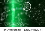 abstract background technology... | Shutterstock .eps vector #1202490274