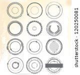 grungy rubber stamps | Shutterstock .eps vector #120250081