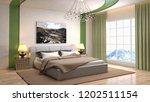 bedroom interior. 3d... | Shutterstock . vector #1202511154