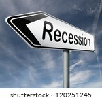 recession crisis bank and stock ...   Shutterstock . vector #120251245