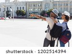 look there. african american... | Shutterstock . vector #1202514394
