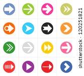 16 arrow pictogram in color...
