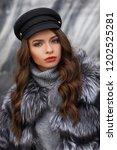 closeup portrait of young... | Shutterstock . vector #1202525281