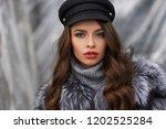closeup portrait of young... | Shutterstock . vector #1202525284