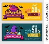 halloween voucher template....   Shutterstock .eps vector #1202534221
