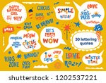 big lettering quotes set in... | Shutterstock .eps vector #1202537221