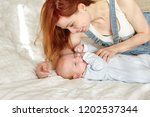 family  happy childhood and... | Shutterstock . vector #1202537344