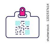 qr code identification card... | Shutterstock .eps vector #1202537614