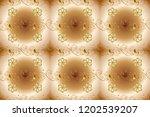 golden pattern on beige  brown...   Shutterstock . vector #1202539207