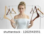 isolated shot of frustrated... | Shutterstock . vector #1202543551