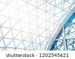 steel structure geometry... | Shutterstock . vector #1202545621