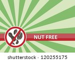 Nut free banner for food allergy concept - stock photo
