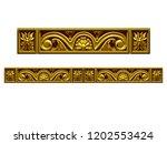 golden  ornamental segment  ... | Shutterstock . vector #1202553424