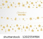 christmas golden decoration... | Shutterstock .eps vector #1202554984