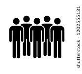 meeting glyph icon. coalition... | Shutterstock .eps vector #1202555131