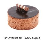 chocolate cake round with... | Shutterstock . vector #120256015