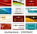 collection business cards... | Shutterstock .eps vector #12025642