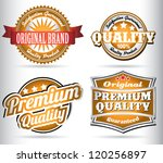 set of vintage orange quality... | Shutterstock .eps vector #120256897