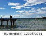 man on the dock   Shutterstock . vector #1202573791