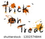 trick or treat words background  | Shutterstock .eps vector #1202574844