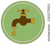 water tap icon. vector... | Shutterstock .eps vector #1202575021