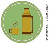thermos container icon  camping ... | Shutterstock .eps vector #1202575024