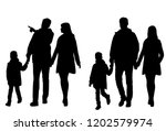 vector silhouettes of a family  ... | Shutterstock .eps vector #1202579974
