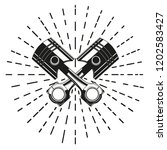 two crossed engine pistons.... | Shutterstock .eps vector #1202583427