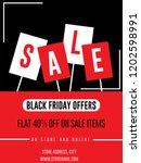 sale banner for black friday... | Shutterstock .eps vector #1202598991