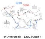 """one belt one road"" new silk... | Shutterstock .eps vector #1202600854"