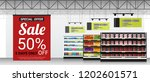 promotion sign in modern... | Shutterstock .eps vector #1202601571