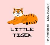 cute little tiger vector... | Shutterstock .eps vector #1202606014