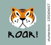 cute tiger head illustration | Shutterstock .eps vector #1202606017